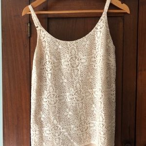 CAbi lace top. Great with white jeans or denim.
